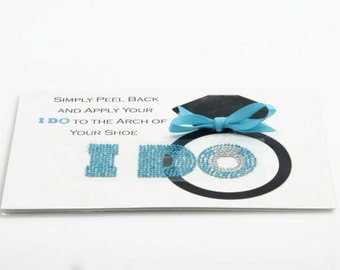 I Do Wedding Shoe Stickers - Blue Ring I Do Wedding Shoe Props - I Do Shoe Stickers for your Bridal Shoes