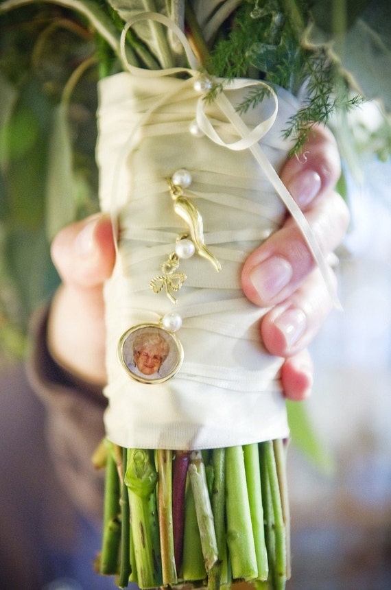 Memory Wedding Charm - Perfect Addition to a Bridal Bouquet or Boutonniere