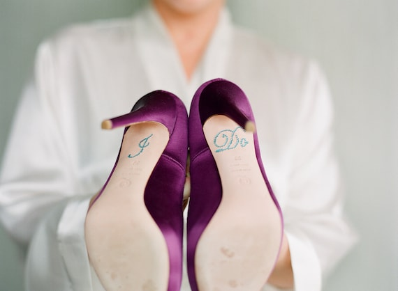 I DO Wedding Jewelry Shoe Stickers in Blue - Perfect Jewlery to add to your Bridal Shoes