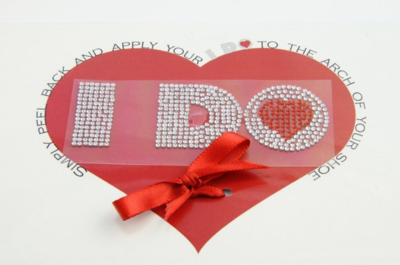 HEART I DO Crystal Shoe Stickers Larger Size