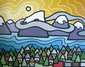 """Revelstoke, 5"""" x 7"""" Card with 4""""x6"""" Image"""