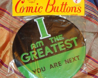 1970's I AM THE GREATEST Mohammed Ali Button