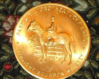 Vintage NOS Park and Tilford Bourbon Whiskey Advertising Coin