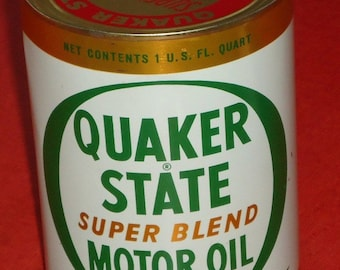 Vintage Un-opened Can of Motor Oil