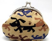 Lovely dogs - Small clutch / Coin purse (S-099)