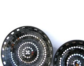 Black platters glass mosaic art home decor