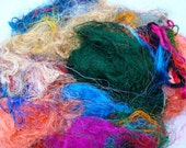 Premium Recycled Silk Fibers 2 Ounces