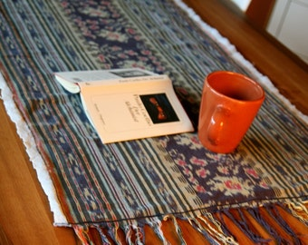 Table or floor rug made from handwoven Indonesian ikat textile - GENUINE IKAT