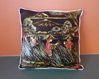 Indonesian batik pillow cover