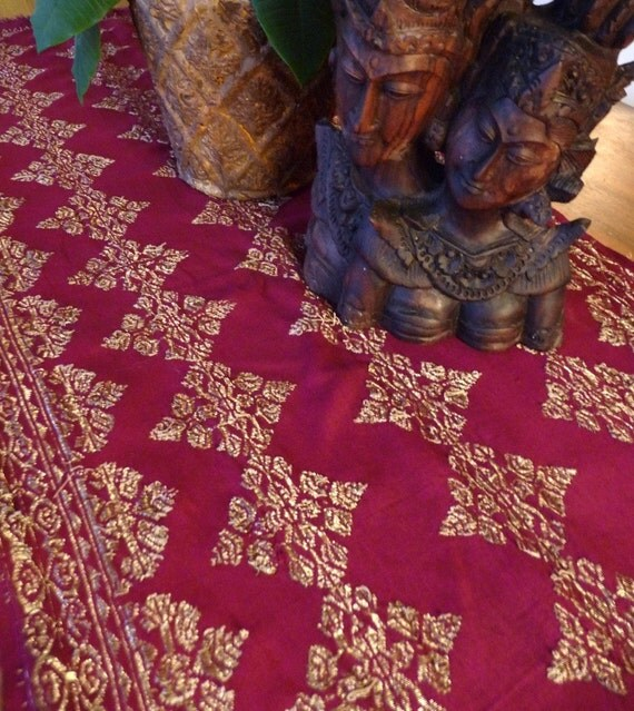 Vintage handwoven Indonesian Songket Textile