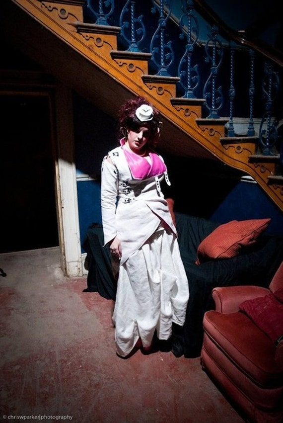 Asylum - Full length victorian skirt with hitch straps