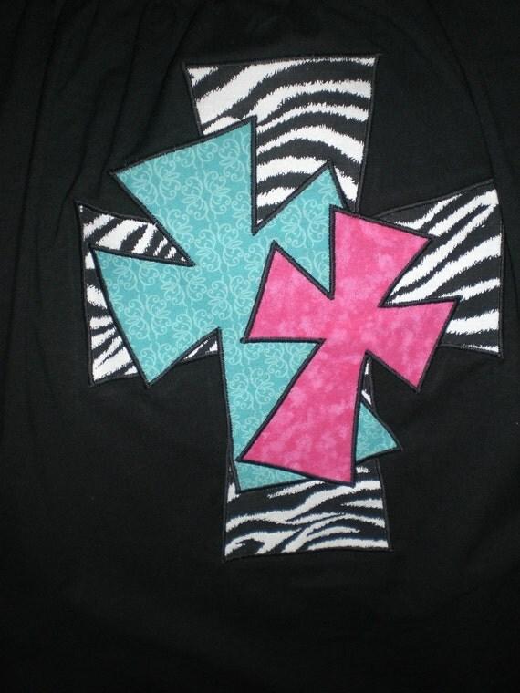 Cross applique shirt for Applique shirts for sale