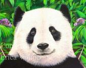 Panda Art Print - Tai Shan