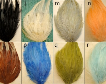 YOU PICK 5 - Hackle Feather Pads