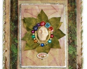 Woodland fine art wall hanging Hope mixed media original ooak