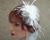 Coco Petite Fascinator, Hair Clip, Bridal Accessories, Bridesmaids Hair Accessories, Dance Costume,  Feather Fascinator, Weddings,