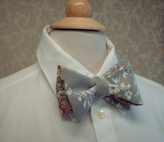 Custom Order for Joseph Mens Bow Ties / Custom Made, Freestyle Groom And Groomsmen, Shabby Chic, Vintage, Victorian,n Weddings