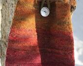 Bag:  Crocheted Wool Handspun Cotton-Lined
