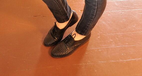 black oxfords, size 5.5