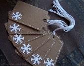 SnowFlake Gift Tags, Set of 6