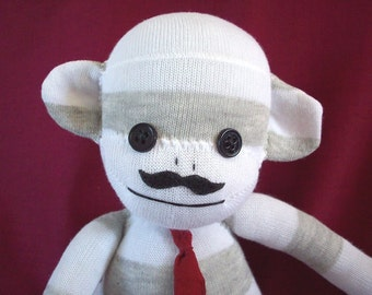 A Sock Monkey with a Mustache- Gomez