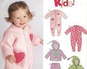 Baby Kids Layette New Look 6525 Sleeper Romper Hooded Jacket Pants Size A NB-L (Bebe Layette)