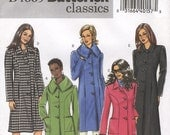 Easy Classic Coat Jacket Butterick B4665 Size FF 16-22 (Facile Manteau Veste) (Facil Abrigo Chaqueta)