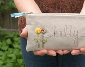 Custom Made Personalized Clutch, Personalized Gift for Women, Gifts for Her Birthday, Floral Purse, Accessory, Gift under 50 MADE TO ORDER