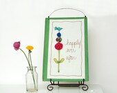 happily ever after, fairy tale, bluebird flower garden, wedding gift, green, pink, blue, unique gift