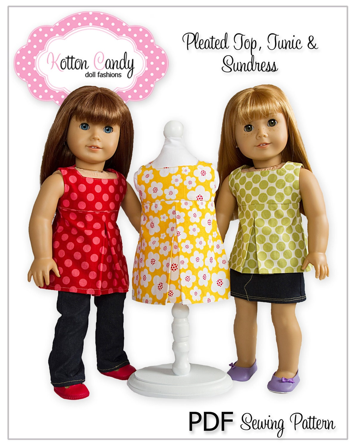 Pdf Sewing Pattern For 18 American Girl Doll Clothes