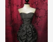 Puff Lovely Romantic Classic Bubble Tiered Prom Party Sweetheart Little Black Dress