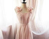 Romantic Angel Pink Petal Dress Soft Misty Nostalgia Dreamy Blush Tea Rose Havisham Mille Feuille Cutouts Chiffon Bubble Hem Dress