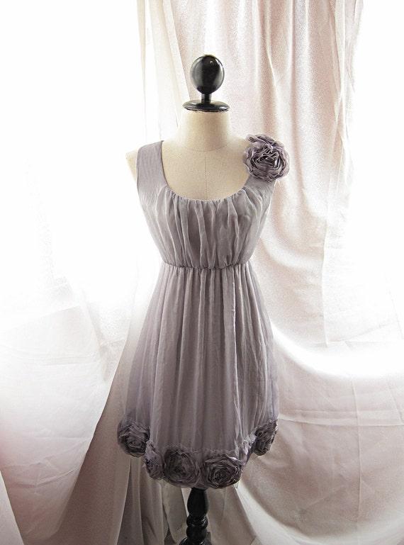 Dreamy Misty Earl Gray Rainy Nostalgia Dusty Rosette Heavenly Marie Antoinette Alice in Wonderland Angel Dress