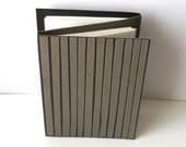Handmade Double-Sided Journal, 32 Pages - Black, White, Grey, Gray, Striped, Unique
