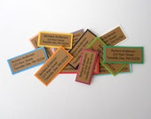 50 Address Labels - Custom labels printed on kraft paper with colorful textured border, for spring and summer, bright and happy and fun.