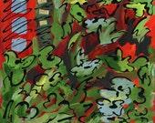 Happiness print of mixed media acrylic painting