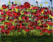 Field of Spring print of acrylic painting