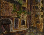 Thoughts of Venice print of mixed media acrylic painting