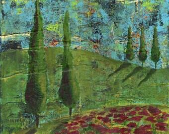 Sweet Songs of Italy print of mixed media acrylic painting