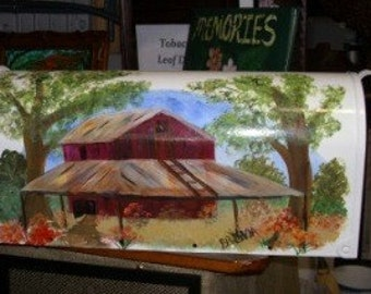 Tobacco Barn Hand Painted Mailboxes