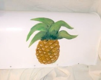 Hand Painted Pineapple Rural Mailbox