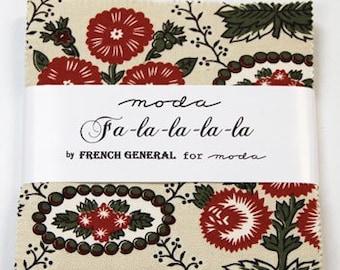 Moda Fa La La La La 5 INCH Charm Pack Fabric Squares OOP