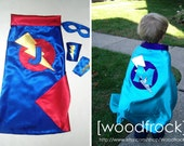 SUPERHERO CAPE-personalized- custom monogram many designs and colors-super hero cape