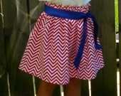 Girls Patriotic 4th of July Skirt RED WHITE and BLUE Toddler