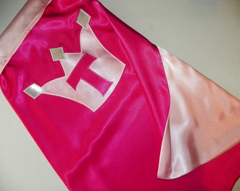Superhero Princess Cape- Halloween Costume- Custom Monogram many designs