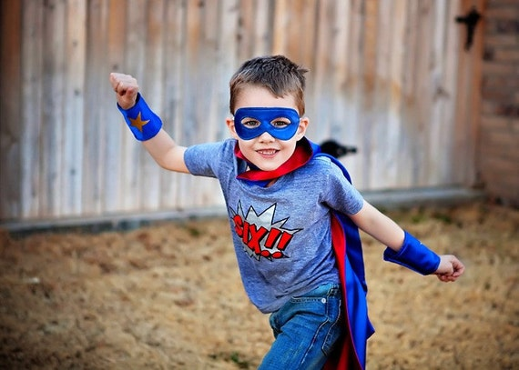 Superhero Cape Super Hero cape mask and cuffs set Personalized Custom monogram Kids childrens adult baby infant Christmas gift boy costume