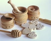 WALDORF Natural Wood Toy- The ORIGINAL Baker's Dozen- Pretend Play Kitchen Set