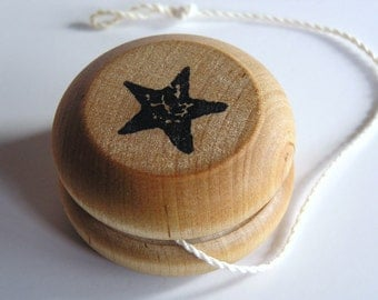 Wooden -Waldorf- Kids -Toy-Wood YoYo- Star- Great Gift for Easter Baskets