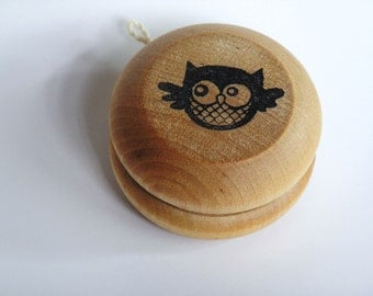 Wooden -Waldorf- Kids -Toy-Wood Toy- OWL- Yo Yo