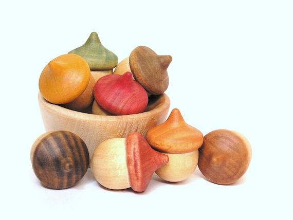 Wood Toy- Autumn Acorns- Seasonal Education Fun-